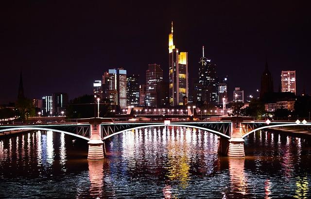 fotos de frankfurt noche
