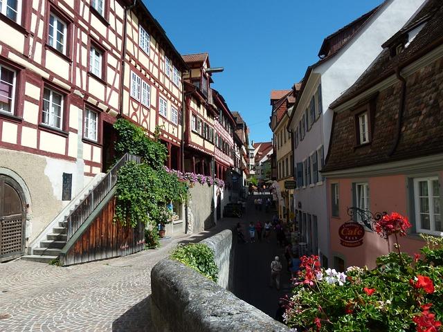 ciudades alemanas casco historico meersburg