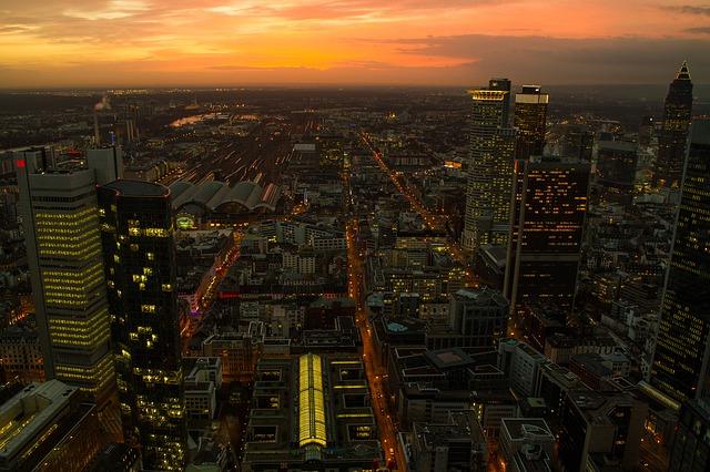 fotos de frankfurt panoramica skyline