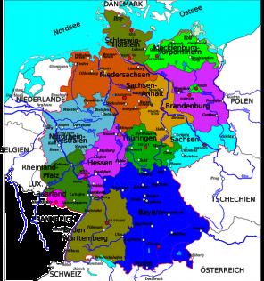 imagen mapa de alemania 1
