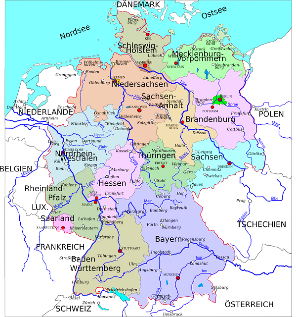 Mapa Politico De Alemania Actual.El Mapa De Alemania Alemaniando Com
