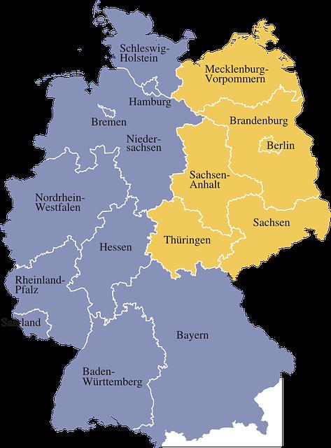 imagen mapa de alemania 2